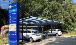 Die neue E-Mobilitätsstation in der Flüssesiedlung