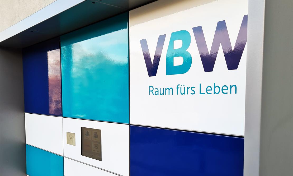 20 Fächer bietet die neue Paketbox der VBW – und sieht auch noch schick aus